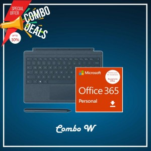 [COMBO W] Surface Go Type Cover Teal + Office 365 Personal (ESD) + Surface Pen Cobalt Blue
