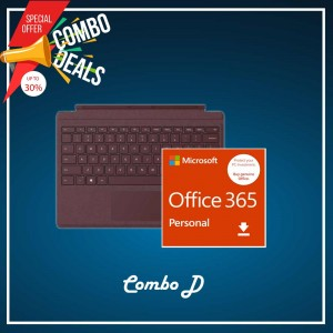 [COMBO D] Surface Go Type Cover Burgundy + Office 365 Personal (ESD)