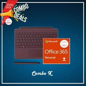 [COMBO X] Surface Go Type Cover Burgundy + Office 365 Personal (ESD) + Surface Pen Burgundy