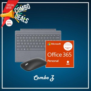 [COMBO Z] Surface Go Type Cover Platinum + Office 365 Personal (ESD) + Mobile Mouse Bluetooth Black + Surface Pen Platinum