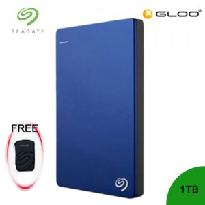 Seagate Backup Plus Portable Drive 1TB - Blue STDR1000302 FREE Hard Pouch Casing
