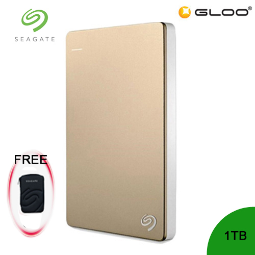 Seagate Backup Plus Portable Drive 1TB - Gold STDR1000309 [FREE Hard Pouch Casing]