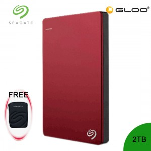 Seagate Backup Plus Portable Drive 2TB Gold STDR2000307 / Rose Gold STDR2000309 / Red STDR2000303 + FREE Hard Pouch Casing
