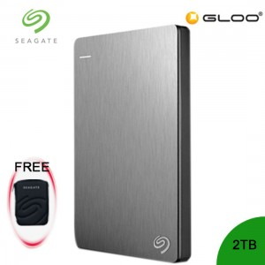 Seagate Backup Plus Portable Drive 2TB - Silver STDR2000301 FREE Hard Pouch Casing