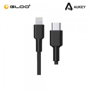 AUKEY MFi Braided Nylon USB C to Lightning Fast Charging Cable - 0.9M CB-CL3 608119200214