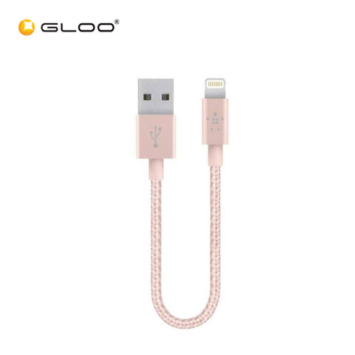 Belkin MIXIT Metalic 2.4A Lighting Cable - 6 Inch -  Rose Gold