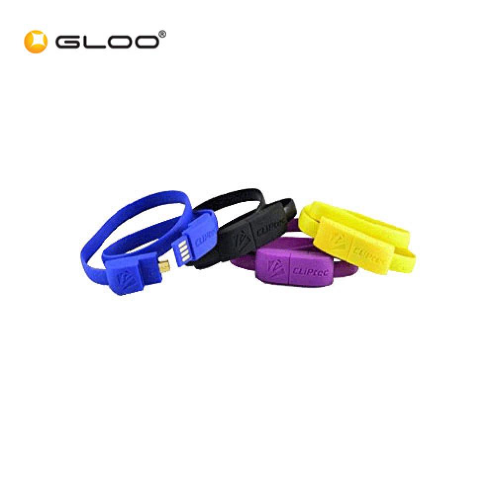 CLiPtec Wrist Bracelet Slim Flat USB 2.0 Micro-B OCC-101 Cable
