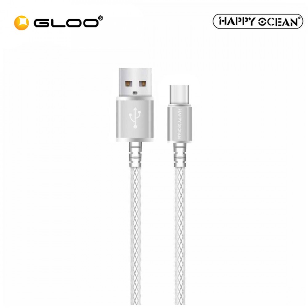 Happy-Ocean-H01-Type-C-Cable-Silver Usb Cable Wire Color Code on usb 3.0 color code, usb monitor cable, rs232 cable wire color code, usb to db9 color code, usb wiring, usb cable connectors, usb to usb cable, usb cable drawing, usb port color code, usb extension cable, ethernet cable color code, data cable color code, usb pinout color code, audio cable color code, vga cable wire color code, usb interface cable, usb cable pinout, usb cable at walmart, rca cable color code, usb color chart,