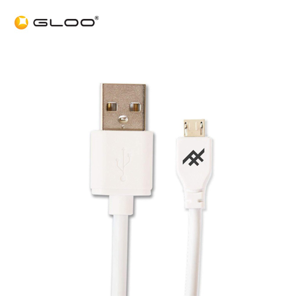 Ifrogz USB A - Micro USB Cable White 1.8M 848467060171