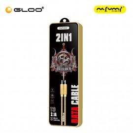 Nafumi T3 2 in 1 micro USB & lightning Cable