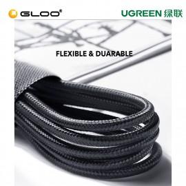 UGREEN USB-C To Lightning Cable Aluminium Shell Braided 1M (Black)-60759