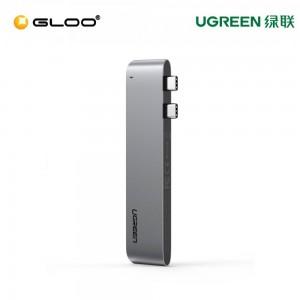 UGREEN Dual USB-C to HDMI+ 3 USB 3.0 + Type C female + PD Converter- 60559