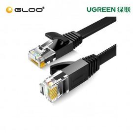 UGREEN Cat 6 UTP Lan Flat Cable 10m (Black) – 50178