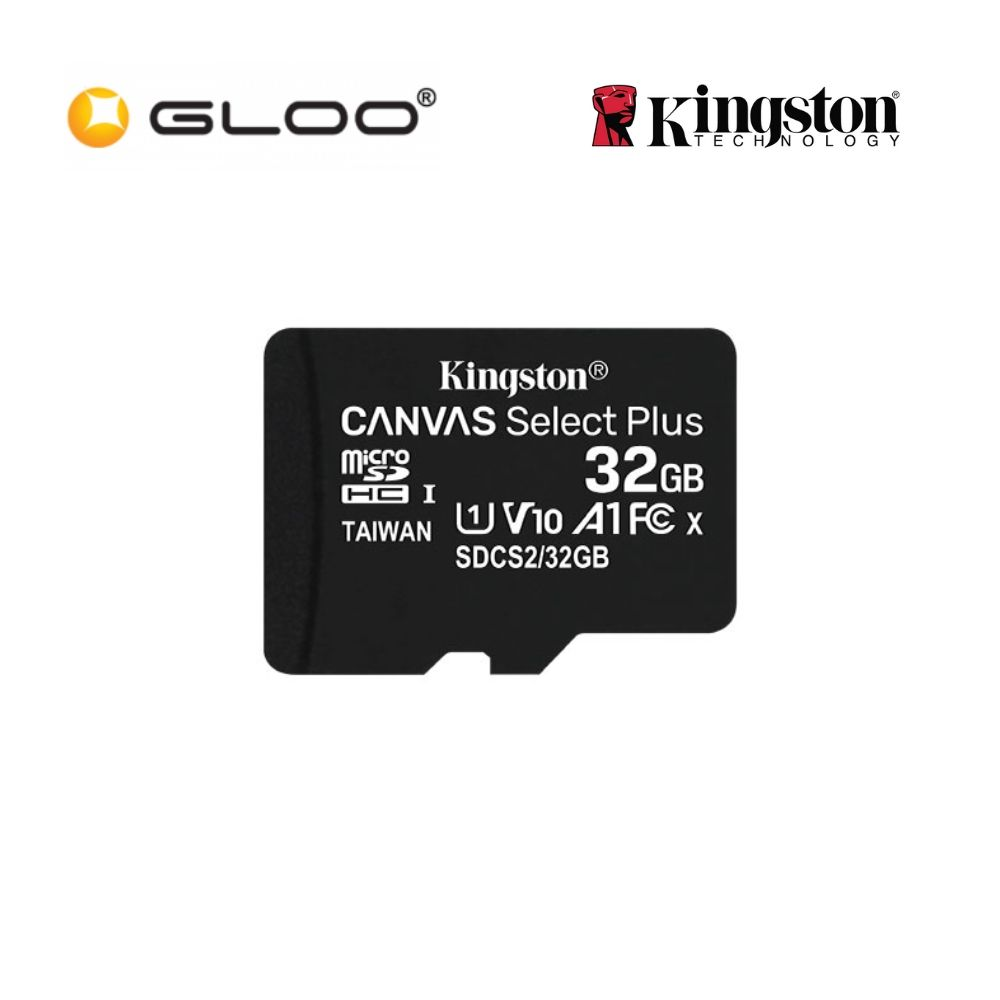 Kingston 32GB Micro SD Plus Class 10 Memory Card SDCS2/32G