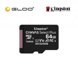 Kingston 64GB Micro SD Plus Class 10 Memory Card SDCS2/64G