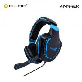 Vinnfier TOROS 2 Gaming Headset with Microphone - Black Blue