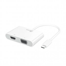 J5 USB-C to VGA+HDMI+USB3.0+Power Delivery Adapter JCA175 847626003486