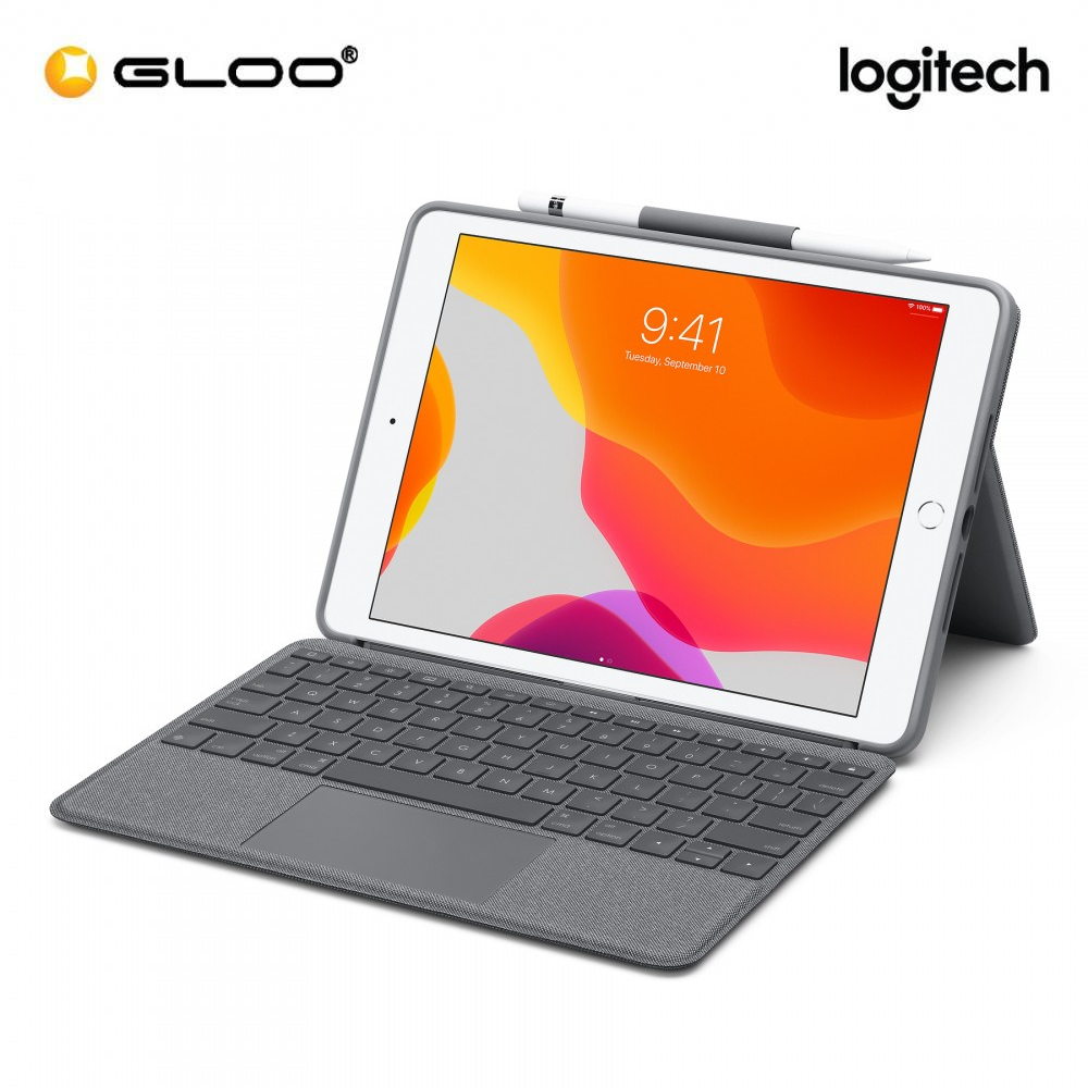 LOGITECH COMBO TOUCH FOR IPAD (7TH/8TH GEN) - GRAPHITE (920-009726)