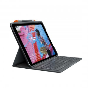 Logitech Slim Folio for iPad (7th Generation) with Logitech Crayon (Bundle)