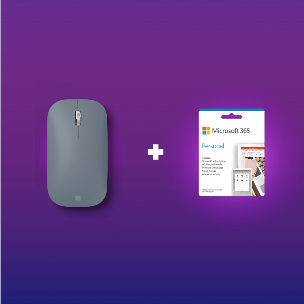 Microsoft Surface Mobile Mouse SC Bluetooth Ice Blue KGY-00045 + 365 Personal (ESD)
