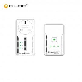 Aztech HL117EP + HL117EW (BGR Twin Aztech 500Mbps Homeplug 765892810235 RP) Starter Kit