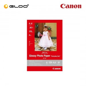 "Canon Glossy Photo Paper 4"" x 6"" 170g/m GP-501 (30Sheets)"