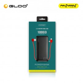 Nafumi B218  Power Bank with 2 in 1 Cable Black