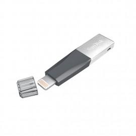Sandisk -iXpand mini Flash Drive 128GB USB 3.0 Silver