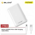 Nafumi B180 10000Mah Power Bank White + Nafumi NFM001 Micro USB Charging Cable White