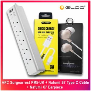 APC Surgearrest PM5-UK + Nafumi S7 Type C Cable + Nafumi X7 Earpiece