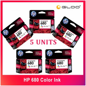 [5 UNITS] HP 680 Color INK CARTRIDGE - COLOR