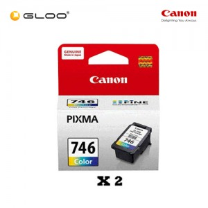 [Set of 2] Canon CL-746 Ink Cartridge - TriColor