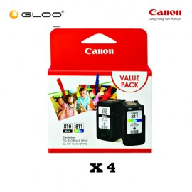[Set of 4] Canon Fine Value Pack 2 PG-810+CL-811 Ink Cartridges