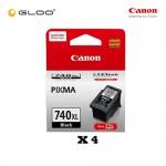 [Set of 4] Canon Fine 11 PG-740XL Ink Cartridges - Black