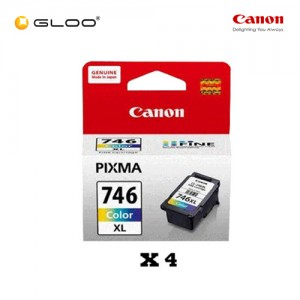 [Set of 4] Canon CL-746XL Ink Cartridge - TriColor