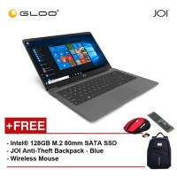 "JOI Book 100 A147G 14"" FHD (Cel N3450, 4GB, 32GB, Intel HD 500, W10) - Dark Grey [Free Intel® 128GB M.2 80mm SATA SSD + JOI Anti-Theft Backpack - Blue + Wireless Mouse]"