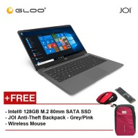 """JOI Book 100 A147G 14"""" FHD (Cel N3450, 4GB, 32GB, Intel HD 500, W10) - Dark Grey [Free Intel® 128GB M.2 80mm SATA SSD + JOI Anti-Theft Backpack - Grey/Pink + Wireless Mouse]"""