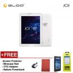 JOI 7 Lite - 3G Pearl White [FREE Screen Protector + Miracase Red + OTG Adaptor + Nafumi 12800mAh PowerBank]