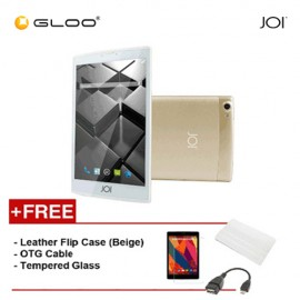 JOI 7 Lite 4G Gold -IW-Q77CG {Free Leather Flip Case- Beige + Tempered Glass Screen Protector + OTG Cable}