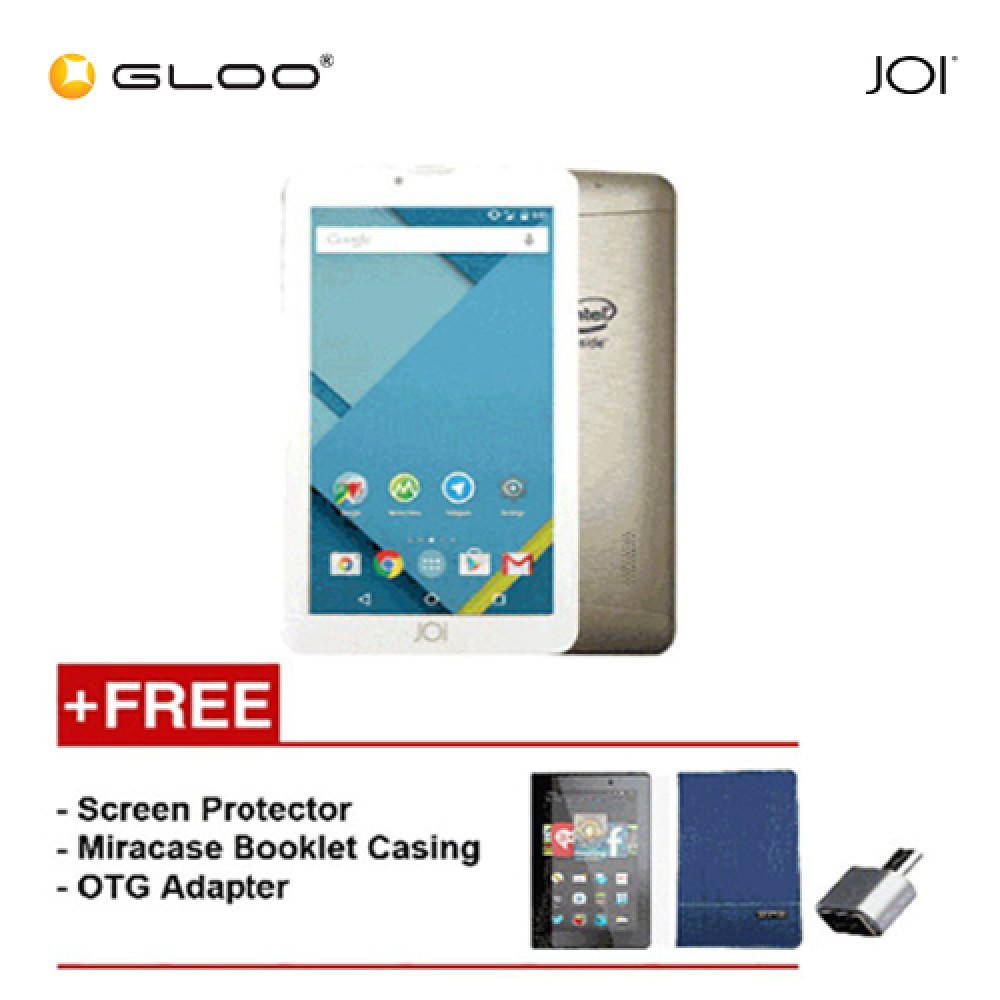 [REFURBISHED] JOI 7 Lite - 3G Pearl Golden PN:AK-M728 {Free Screen Protector + Miracase- Blue + OTG Adapter}