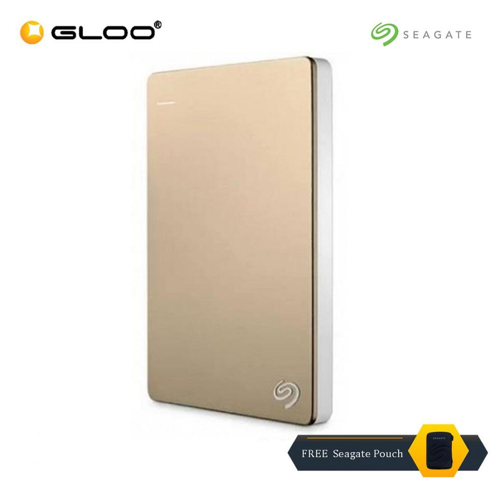 Seagate Backup Plus Portable External Hard Drive Storage 2TB - Gold STDR2000307 FREE Seagate Pouch