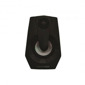 VINNFIER ICON 808BTR USB Portable Speaker with 7 Modes LED Lights, 2.0 Bluetooth Speaker Black