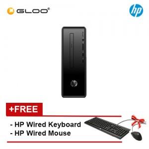 HP Slim 290-a0019d2 Desktop PC (Pentium J5005, 1TB, 4GB, DVDRW, UMA, W10) - Black [FREE] HP Keyboard + Mouse