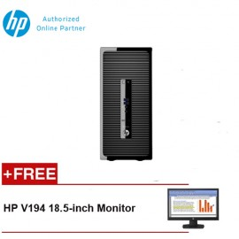 HP ProDesk 400 G3 MicroTower Desktop [FREE] HP V194 18.5-inch Monitor