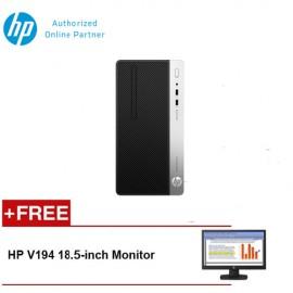 HP ProDesk 400 G4 MicroTower Desktop [FREE] HP V194 18.5-inch Monitor