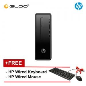 HP Slim 290-p0048d Desktop PC (i5-8400, 1TB, 4GB, DVDRW, UMA, W10) - Black [FREE] HP Keyboard + Mouse [Redeem MS Office 365 Personal worth RM499 - 20 Dec 2019 - 15 Feb 2020*]