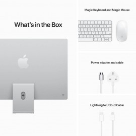 Apple 24-inch iMac M1 (8-core CPU, 7-core GPU, 8GB Memory, 256GB Storage) - Silver