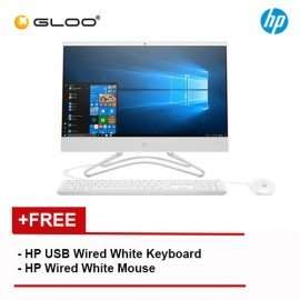 "HP 24-f0033d (24"" Non Touch) AIO Desktop PC (i3-8130U, 1TB, 4GB Nvidia GT MX110 2GB, W10) - White [FREE] HP Keyboard + Mouse"
