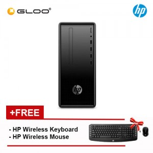 NEW HP Desktop 190-0216a PC  (AMD Ryzen 3 PRO 2200G, 1TB+128GB SSD, 4GB, AMD Radeon Vega 8 Graphics, W10) - Black [FREE] HP Wireless Keyboard + HP Wireless Mouse