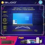 "HP Desktop 22-df0212d AIO 21.5"" FHD Touch (AMD Ryzen 3 3250U, 1TB HDD, 4GB, AMD Radeon Graphics, W10H) - Night Blue [FREE] HP Keyboard + HP Mouse (Grab/Touch & Go credit redemption : 1/8-31/10*)"
